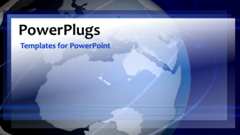 PowerPoint Template - A global corporate network